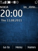 Nokia Blue S40 Mobile Phone Theme