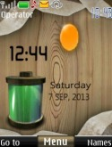 Battery live clock S40 Mobile Phone Theme