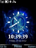 Colour Change Clock Theme for S40 Mobile Phone