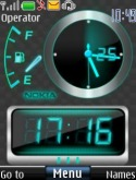 Neon Dual Clock Theme for Nokia Asha 202