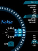Scanner Clock Theme for Nokia Asha 202