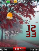 Spring Live Clock S40 Mobile Phone Theme