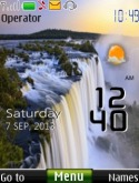Waterfall Live Clock S40 Mobile Phone Theme