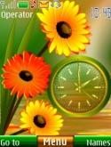 Flower Dual Clock S40 Mobile Phone Theme