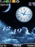 Moon Dual Clock S40 Mobile Phone Theme