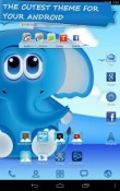Cool Blue Go Launcher Android Mobile Phone Theme