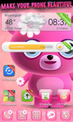 Cute Pink Go Launcher Android Mobile Phone Theme