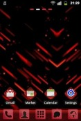 Red Future GO Launcher EX Android Mobile Phone Theme