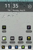 iPhone 5 Black Go Launcher EX Android Mobile Phone Theme
