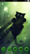 Black Kitten CLauncher Android Mobile Phone Theme
