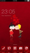 Cute Couple CLauncher Android Mobile Phone Theme