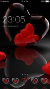 Transparent Heart CLauncher Android Mobile Phone Theme