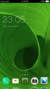 Green Leave CLauncher Android Mobile Phone Theme