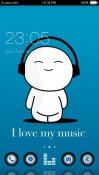 Cute Music CLauncher Android Mobile Phone Theme
