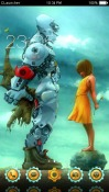 Robot Love CLauncher Android Mobile Phone Theme