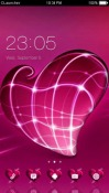 Pink Heart CLauncher Android Mobile Phone Theme