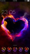 Vibrant Heart CLauncher Theme for Android Mobile Phone