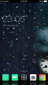 Wet Glass CLauncher Theme for Samsung Galaxy Rush M830