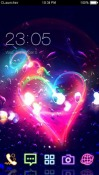 Romantic Heart CLauncher Theme for  Mobile Phone