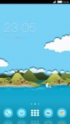 Toon Island CLauncher Android Mobile Phone Theme