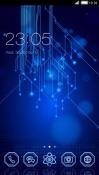 Blue Matrix CLauncher Android Mobile Phone Theme