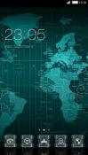 World Map CLauncher Theme for  Mobile Phone