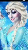 Queen Elsa CLauncher Android Mobile Phone Theme