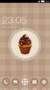Chocolate Cupcake CLauncher Android Mobile Phone Theme