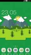 Paper Mountains CLauncher Android Mobile Phone Theme