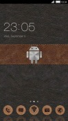 Leather Android CLauncher Android Mobile Phone Theme