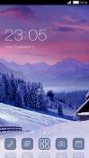 Winter Sunset CLauncher Samsung Galaxy Rush M830 Theme