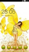 Girl Yellow CLauncher Android Mobile Phone Theme