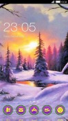 Sunset Winter CLauncher LG Optimus G Pro Theme