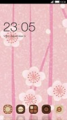 Abstract Pink Flower CLauncher LG Optimus G Pro Theme