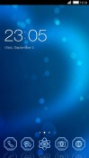 Blue Heart CLauncher Android Mobile Phone Theme
