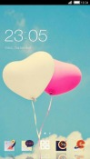 Balloon Hearts CLauncher Android Mobile Phone Theme