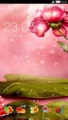 Pink Flower CLauncher Samsung Galaxy Rush M830 Theme