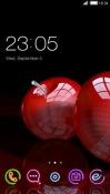 Red Apple CLauncher Samsung Galaxy Rush M830 Theme