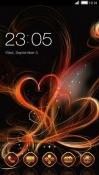 Abstract Hearts CLauncher Samsung Galaxy Rush M830 Theme