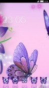 Lavender Butterfly CLauncher Android Mobile Phone Theme