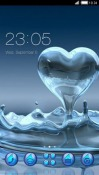 Splash Heart CLauncher Android Mobile Phone Theme