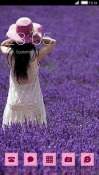 Purple Field CLauncher Android Mobile Phone Theme