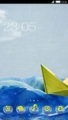 Wave CLauncher Android Mobile Phone Theme