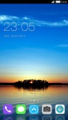 Sunset Island CLauncher Android Mobile Phone Theme