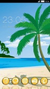 Tropical Beach CLauncher Android Mobile Phone Theme