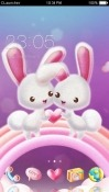 Love Bunnies CLauncher Android Mobile Phone Theme