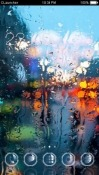 Rain On Window CLauncher Android Mobile Phone Theme