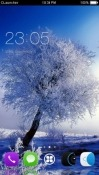 Snow Tree CLauncher QMobile Noir A6 Theme