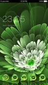 Green Flower CLauncher Android Mobile Phone Theme