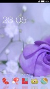 Purple Flower CLauncher Android Mobile Phone Theme